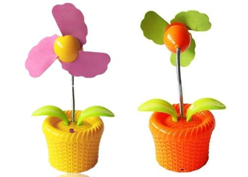Masaüstü Soğutucu: Dekoratif Işıklı Çiçek Fan / Soğutucu