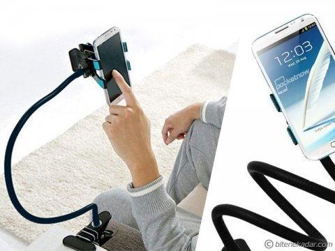 Akrobat Telefon Tutucu: Akrobatik Gövde ile İster Tutaç İster Sehpa
