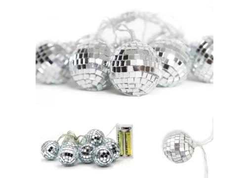 Mini Disko Topu Dekoratif Süsleme 10'lu Led Zinciri