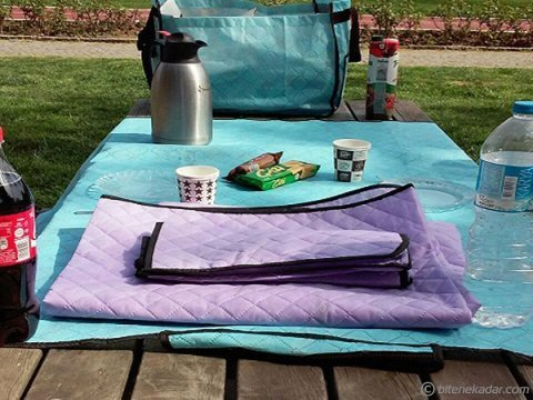 Çantalı Piknik Örtüsü: Kamp Tipi (2 Renk)