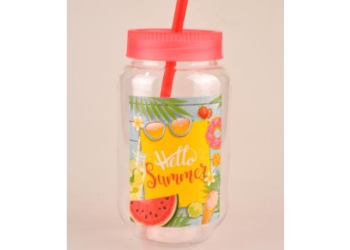 Pipetli Milkshake & Smoothie Bardağı