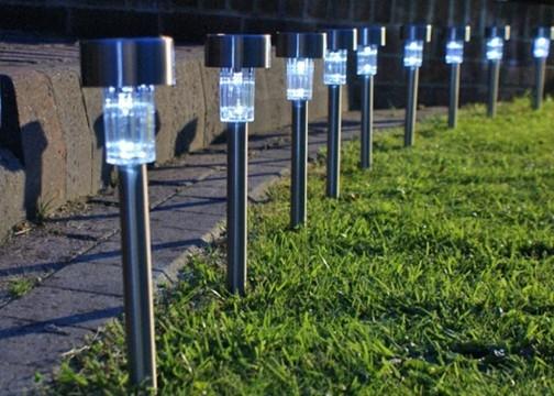 Güneş Enerjili Bahçe Lambası - Solar Aydınlatma (5 Adet)