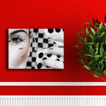 Kanvas Tablo Saatler 40 cm x 30 cm