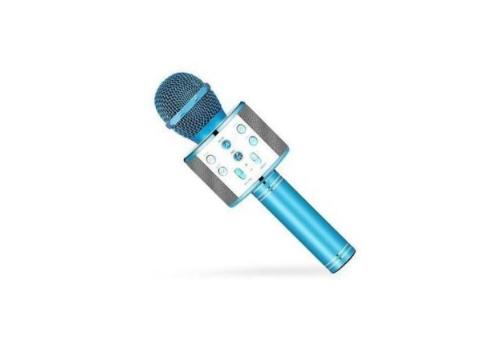 Şarj Edilebilir Telefon Ve Usb Bağlantılı Karaoke Mikrofon (Mavi)