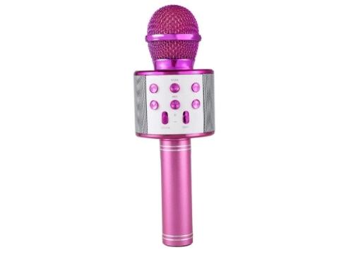 Şarj Edilebilir Telefon Ve Usb Bağlantılı Karaoke Mikrofon (Pembe)