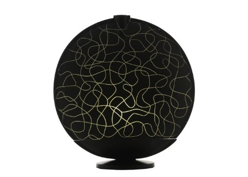 Sensohome Lamp Full Moon Large Black Motif Cream Lamba