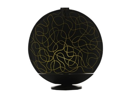Sensohome Lamp Full Moon Large Black Motif Yellow Lamba