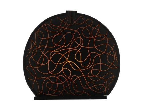 Sensohome Lamp Stone Large Neuron Black Orange Lamba