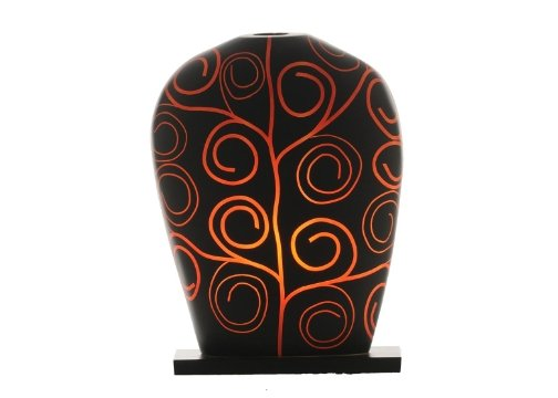 Sensohome Lamp Yoni Large Arabesk Black Red Lamba