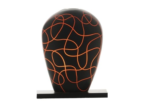 Sensohome Lamp Yoni Small Neuron Black Orange Lamba