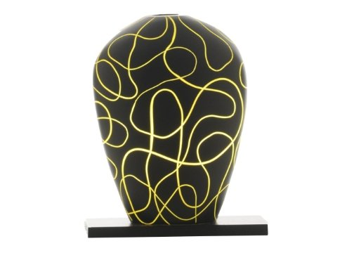 Sensohome Lamp Yoni Small Neuron Black Yellow Lamba
