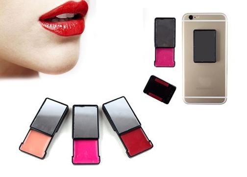 Telefon Arkası Ayna ve Dudak Parlatıcısı (3 Adet)