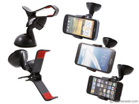 Araç İçi Telefon Tutucu (Mandallı + Vantuzlu)