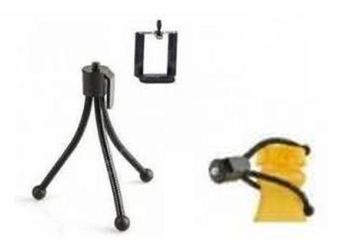 Telefon ve Kamera İçin Esnek Metal Mini Tripod
