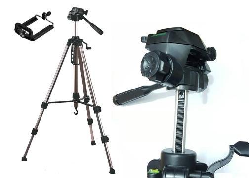 Telefon ve Kamera Tutucu Tripod: 170 cm Tripod Ayak+Telefon Tutucu