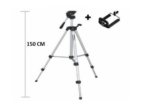 Telefon ve Kamera Tutucu Tripod Ayak 150 cm (Telefon Tutuculu)