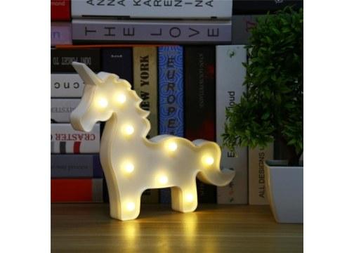 Unicorn Ledli Dekoratif Masa ve Duvar Lambası
