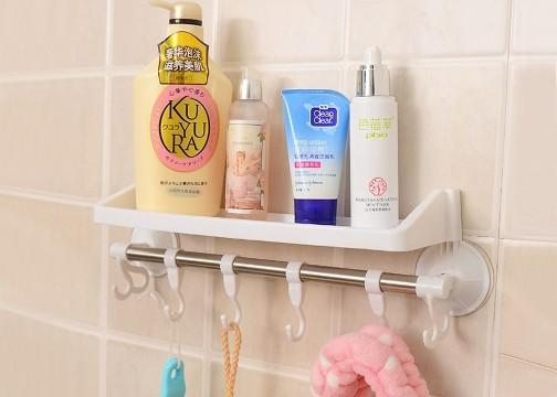 Vantuzlu Banyo Askılığı: Raflı ve Kancalı Askılık