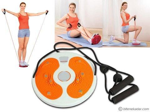 Waist Twisting Disc: Bel İnceltici İpli Spor Aleti