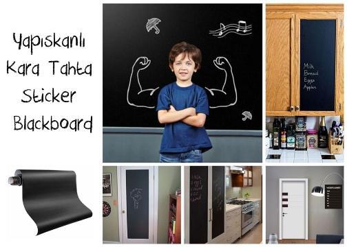 Yapışkanlı Kara Tahta-Yazı Tahtası: Sticker Blackboard