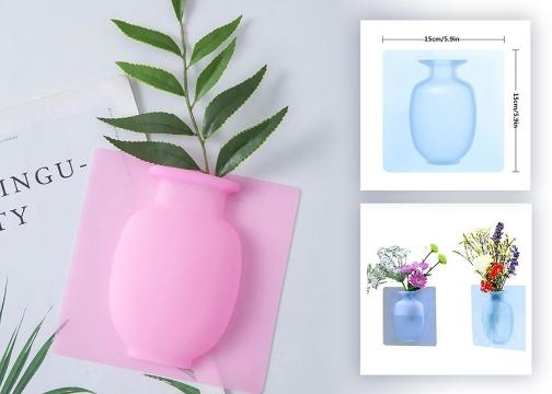 Yapıştırılabilir Su Hazneli Silikon Vazo Sihirli Vazo