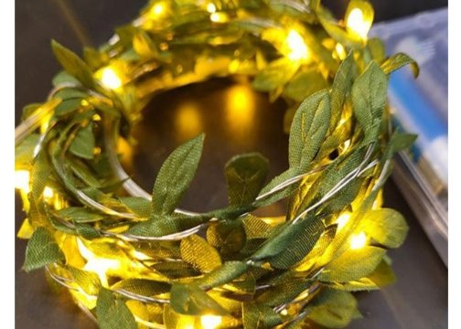 Yapraklı Dekorlu 3 Metre Peri Led Işık Yılbaşı Süsü