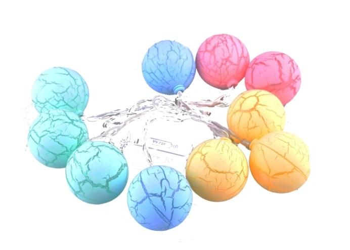 10lu Renkli Top Şeklinde Dolama Led 1,5 Metre