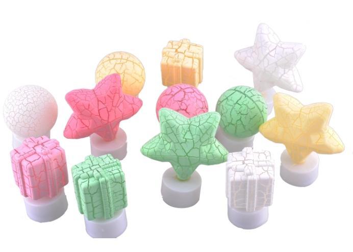 12 Adet Dekoratif Işıklı Renkli LED Objeler
