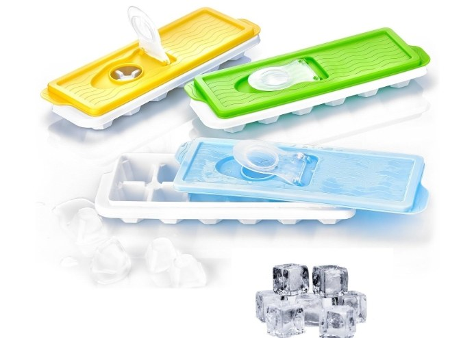12li Kapaklı Buz Kalıbı Yapışmaz Silikon Taban