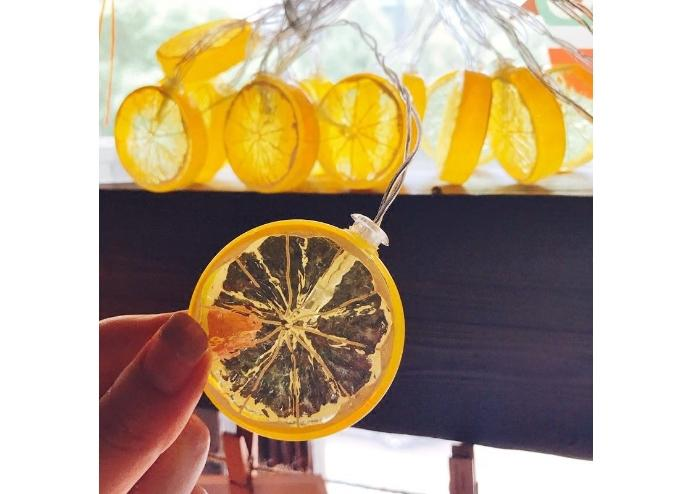 20li Limon Dilimi Şeklinde Dekoratif Dolama Led 3 Metre