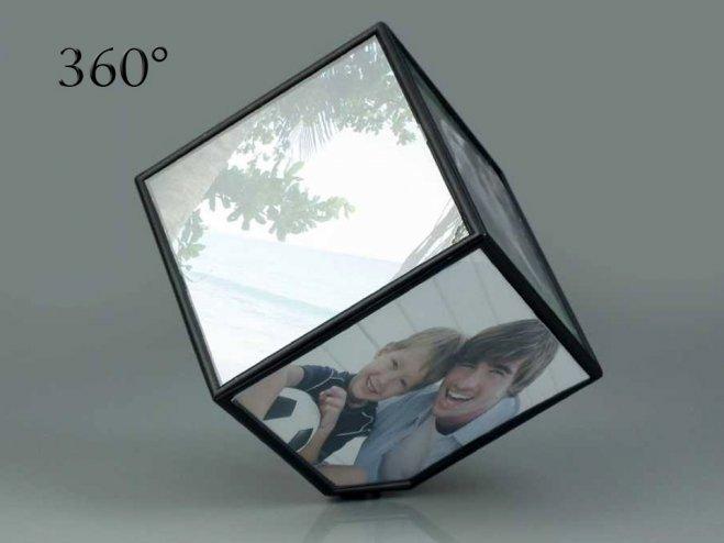 360 Derece Küp Resim Çerçevesi - Rotating Photo Cube