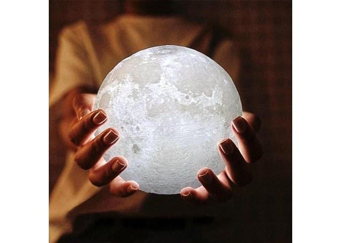 3D Ay Şeklinde Dekratif Gece Lambası Masa Lambası
