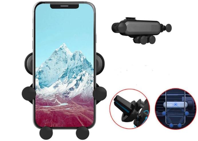 4 Nokta Destekli Tasarımlı Araç İçi Siyah Telefon Tutucu