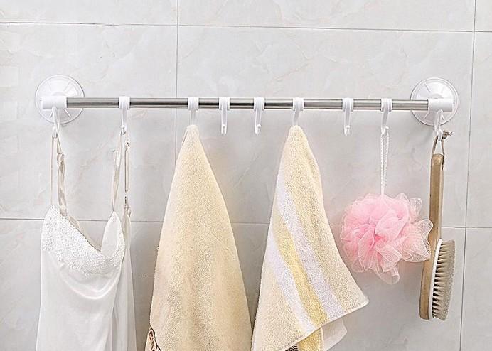 6 Kancalı Vantuzlu Banyo Askısı