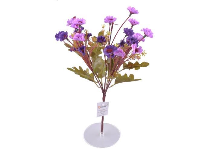 7 Dallı 33 cm Papatya Yapay Çiçek Mor-CK009MR