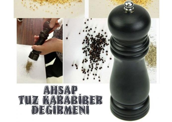 Ahşap Tuz Karabiber Öğütücü Değirmen (20 cm)
