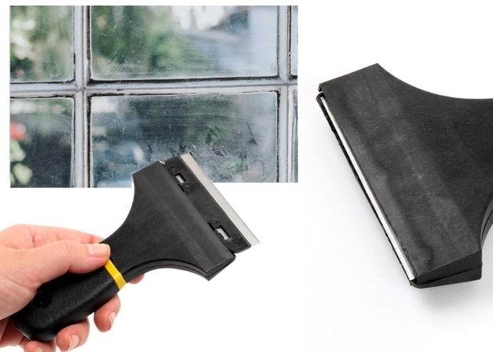 Leke Macun Silikon Derz Yapışkan Boya, Sıva Kireç, Etiket Kazıyıcı Spatula: Çelik Başlık: AI065 / 3 Safety Scrape