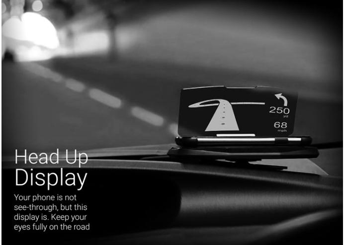 Akıllı Telefon Navigasyon Yansıtıcı Araç Kiti - Hud Display