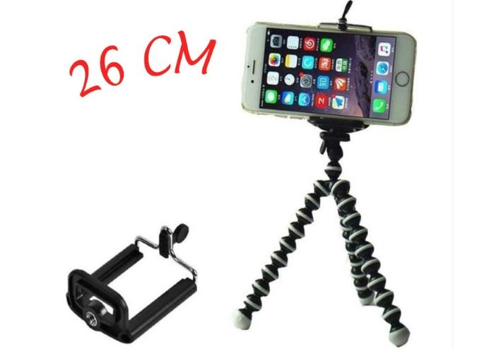 Akrobat Ayaklı Tripod 26 cm + Telefon Tutucu Aparat