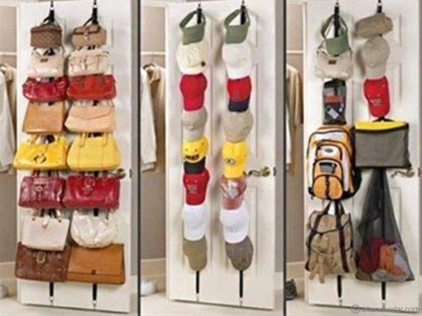 Ayarlanabilir Kapı Arkası Çanta Askısı Bag Rack (16 Askı)