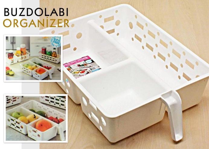 Buzdolabı Düzenleyici Organizer (1-2-3 Bölmeli)