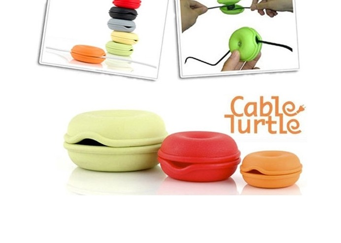 Cable Turtle - Pratik Kablo Organizer Seti (3 Parça)