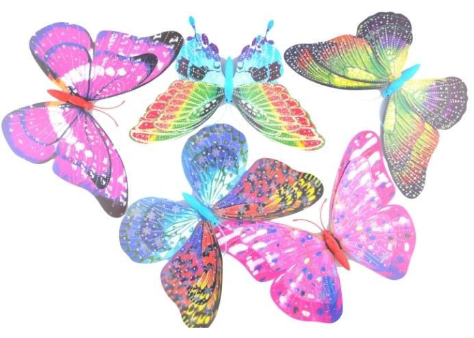 Dekoratif Saksı Kelebekleri Büyük Boy 5 Adet