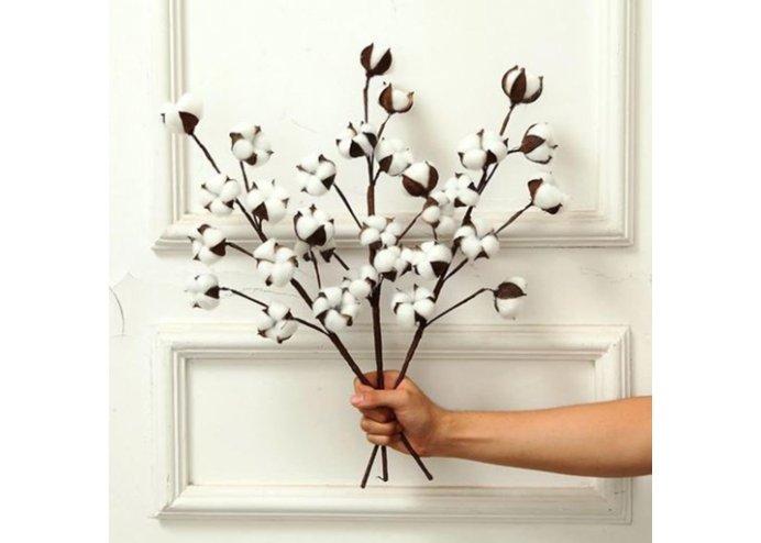 Pamuk Dallı Dekoratif Yapay Çiçek