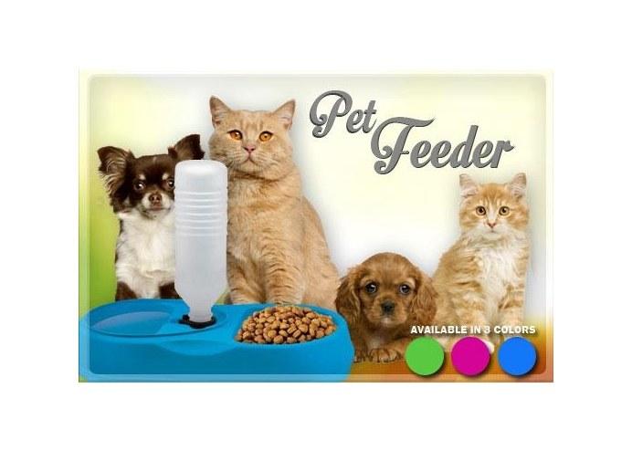FinePet Pet Feeder Kedi ve Köpek için Yemek Su Kabı