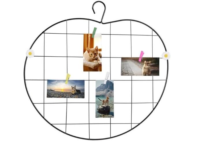 Fotoğraf ve Notlar İçin Metal Elma Model Işıklı Ferforje