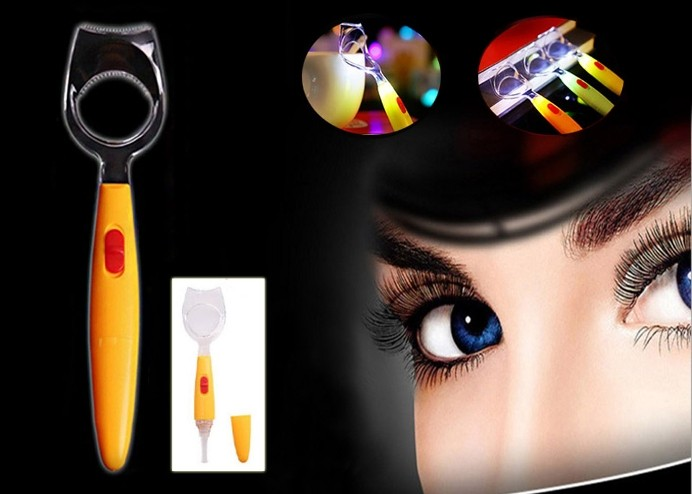 Işıklı Kirpik Aleti: Kirpik Kıvırma - Eyeliner - Rimel İçin