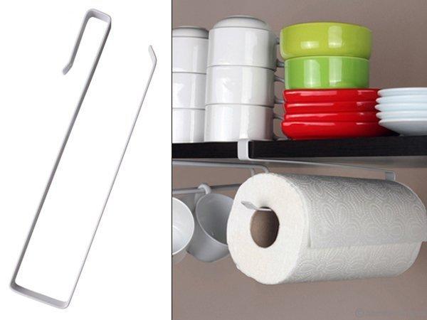 Kağıt Havlu Askılığı: Kupa Bardak + Fincan Organizer (Dolap İçi - Raf Tipi)
