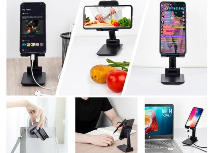 Katlanabilir Masaüstü Telefon ve Tablet Tutucu
