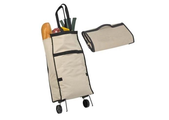 Katlanabilir Pratik Çanta Pazar Arabası Elde Taşınabilir